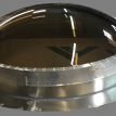 Round Curb Mount with Round Flashing and Insulated Curb